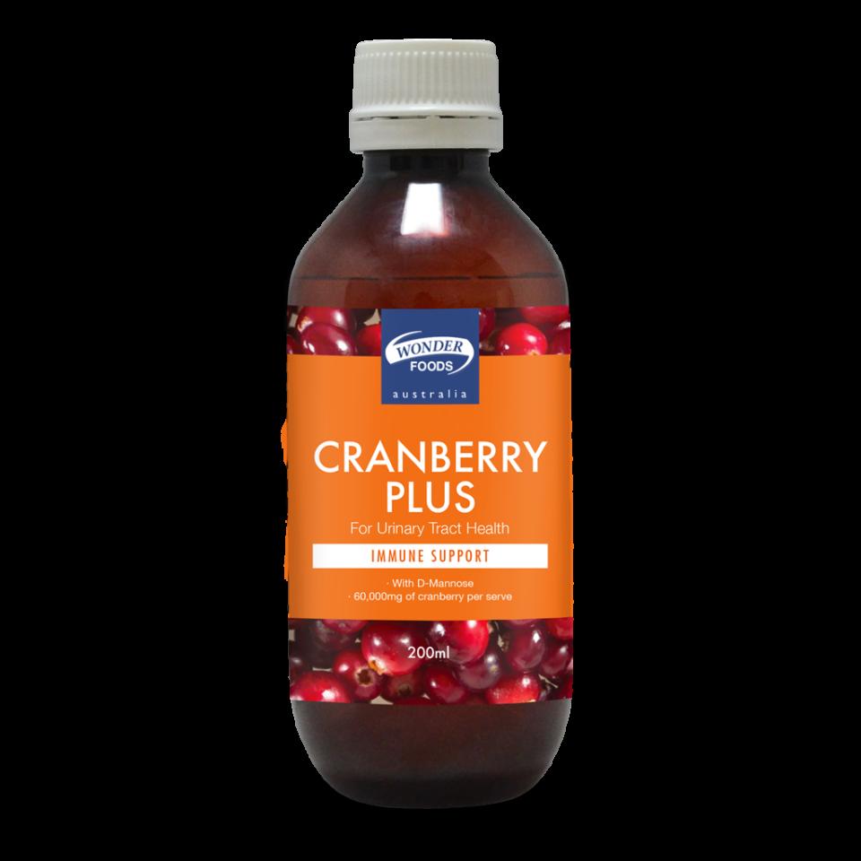 Wonder Foods Cranberry Plus 200ml