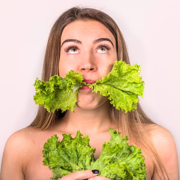 Eating lettuce