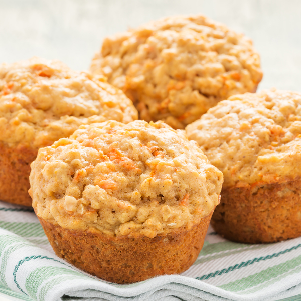 Carrot, Oatmeal & Brewer's Yeast Muffins