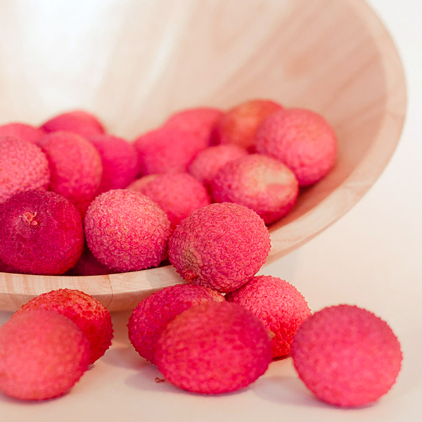 Lychee in a bowl