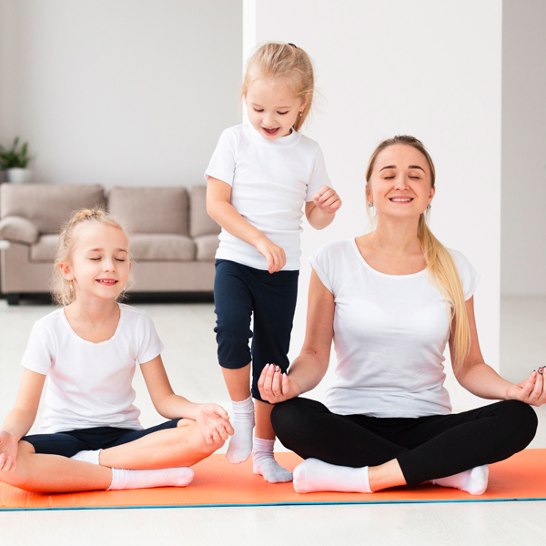 trying to meditate with 2 young children