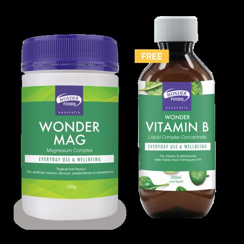 Wonder Mag + Free Wonder Vitamin B