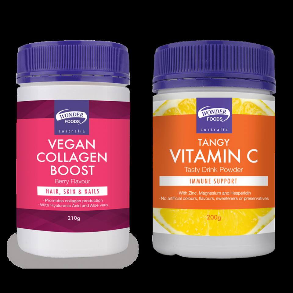 Wonder Foods Tangy Vitamin C + Vegan Collagen Boost Combo Deal